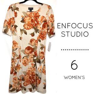 NWT Enfocus Studio short sleeve floral midi dress